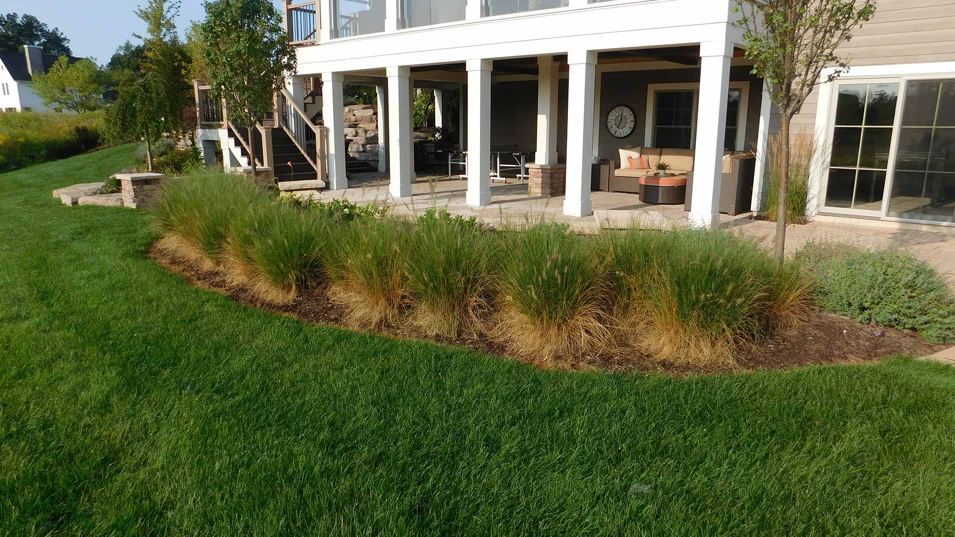Well maintained lawn and residential softscape design in Cascade, MI.