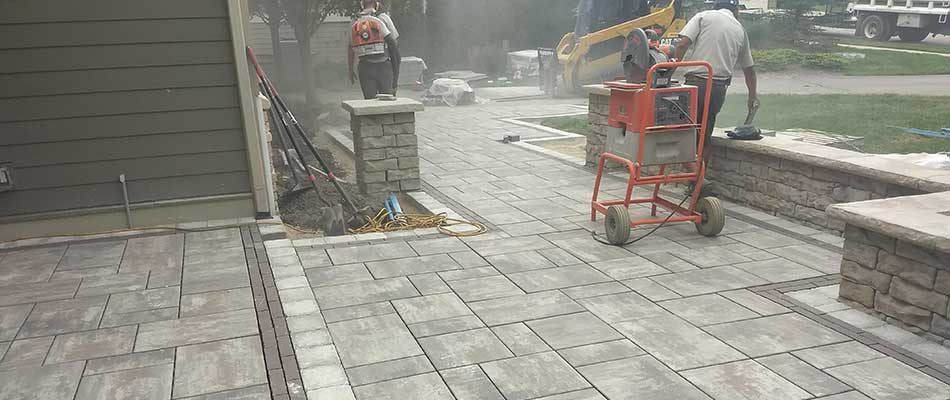 Custom patio designed for a home near Walker, MI.