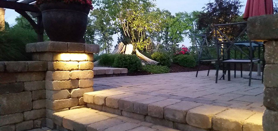 Outdoor lighting installation at a home near Cascade, MI.